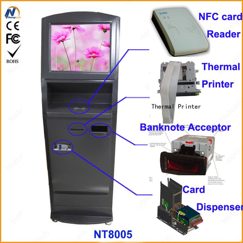 Self service ticketing print touch kiosk with card reader  9