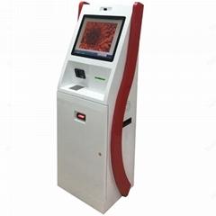 Paper money acceptor touch screen kiosk