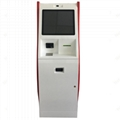 Paper money acceptor touch screen kiosk