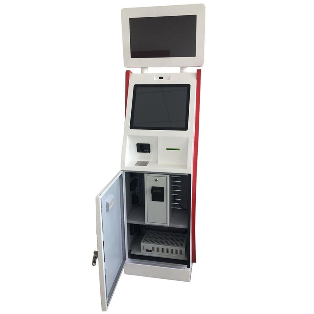 Dual monitor cash receiver payment kiosk terminal with card reader 2