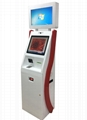 Dual monitor cash receiver payment kiosk terminal with card reader 3