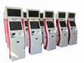 Dual monitor cash receiver payment kiosk terminal with card reader 4