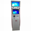Dual monitor cash receiver payment kiosk terminal with card reader 6