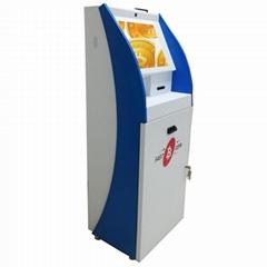 Metal frame ATM kiosk terminal housing