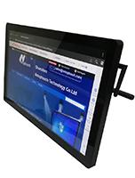 Touch monitor kiosk with PC for ad