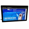 Touch monitor kiosk with PC for ad 5