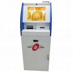 Self service touch screen BTC purchase kiosk