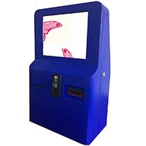Wall mounted self service ticket vending kiosk