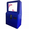 Wall mounted self service ticket vending kiosk 1