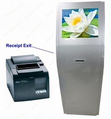 Customized touchscreens self service thermal printer kiosk