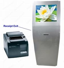 Free standing 80mm thermal printer kiosk