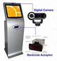 Automated unbanked kiosk with QR code