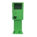 Semi outdoor kiosk for parking lot