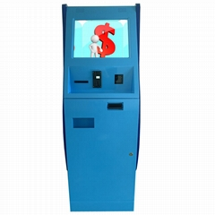 Netoptouch cash collector kiosk with coin acceptor and paper currency acceptor
