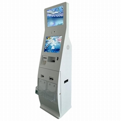 Netoptouch card reader kiosk with ID card dispenser