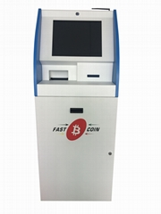 Assembled bitcoin vending ATM kiosk terminal