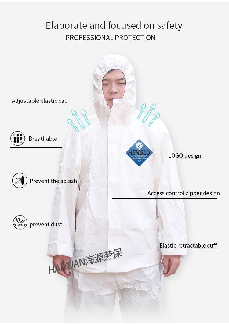 Isolation gown, Isolation clothes, protecting isolation garment 4