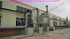 Side of distribution transformer saw dust remova