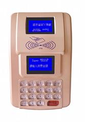金色台式AF100 IC卡食堂售饭机,就餐机,可控制三棍闸