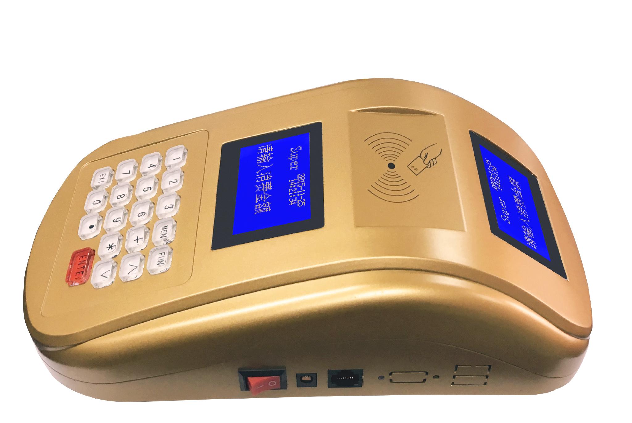 AF100 IC卡食堂售饭机订餐机消费机玫瑰金色台式 4