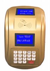 AF100 IC卡食堂售饭机订餐机消费机玫瑰金色台式