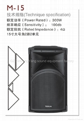 single 15 inch bass speaker