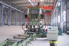 High efficiency short process H-beam welding production line