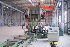 High efficiency short process H-beam welding production line