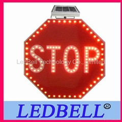 Red solar led traffic sign outdoor led lamp stop led open signs