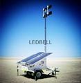 Portable Mobile solar tower daymarker