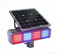 Solar LED flashing strobe traffic light