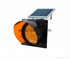 300mm Yellow solar warning strobe flash traffic light lamp