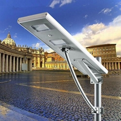 60W All in one integrated solar led street light lamp