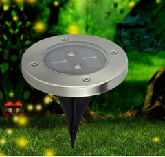 Solar lawn tilt up lighter