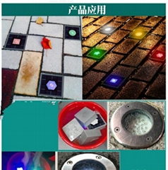 Solar led brick light
