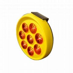 Solar warning  flash traffic lamp