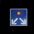 Solar Warning Arrow Directon Sign