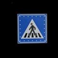 Solar Traffic Warning Sign for Pedestrian Crossing