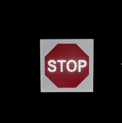 Solar traffic warning led stop sign