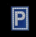 Solar Warning parking signage