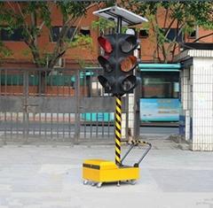 可移動太陽能紅綠交通燈
