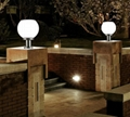solar wall post pillar light