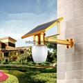 Solar wall courtyard light