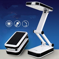 Solar camping desk lamp
