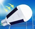 Portable solar emergency bulbs