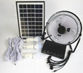 5W Potable solar  home system with fan and bulbs