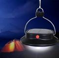 Solar hanging camping bulb light