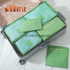 UBORSE Foldable polyester 6pcs sets mesh bags packing cubes travel organizer who