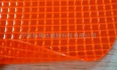 透明阻燃PVC夾網布