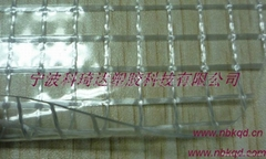 Flame Flame retardant PVC anti-static hardy transparent with nets cloth